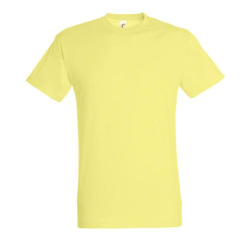 Tee-shirt personnalisable homme en coton JAUNE PÂLE