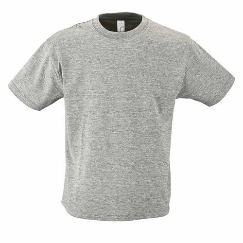 Tee-shirt personnalisable enfant en coton GRIS CHINÉ