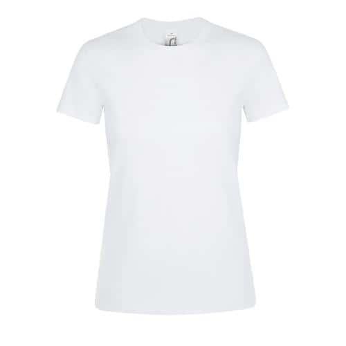 Tee-shirt femme en coton BLANC