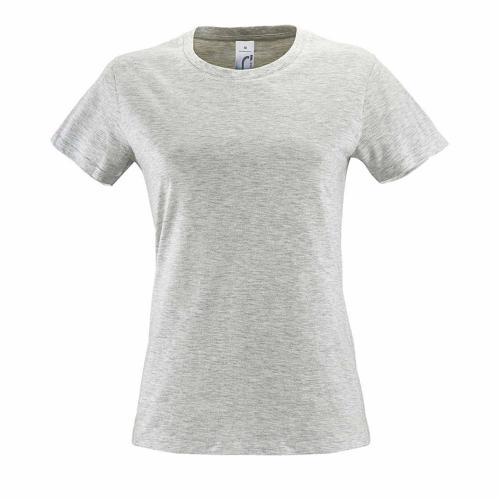 Tee-shirt femme en coton BLANC CHINÉ