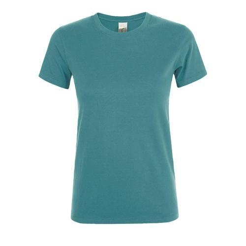 Tee-shirt personnalisable femme en coton BLEU CANARD