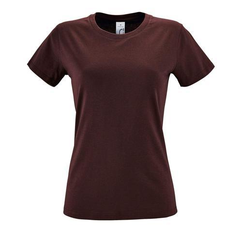 Tee-shirt femme en coton BORDEAUX