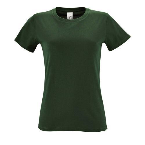 Tee-shirt personnalisable femme en coton VERT BOUTEILLE