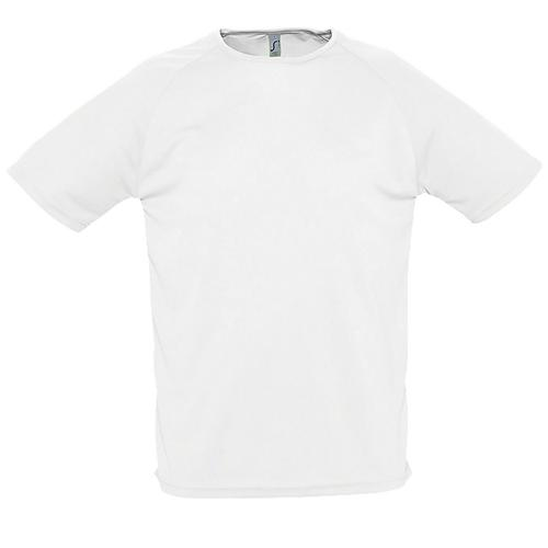 Tee-shirt personnalisable de sport homme en polyester BLANC