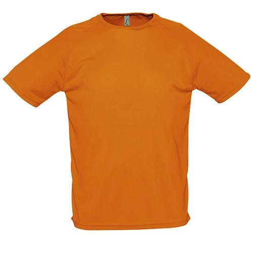 Tee-shirt de sport homme en polyester ORANGE