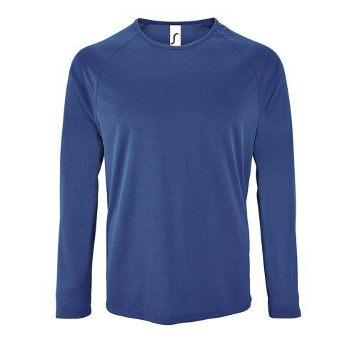 Tee-shirt manche longue de sport homme en polyester ROYAL