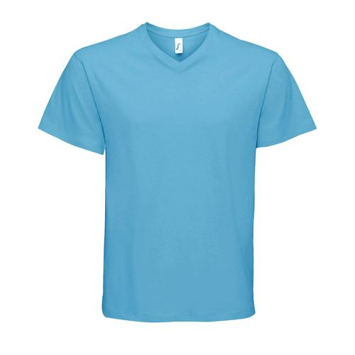 Tee-shirt col V en coton AQUA