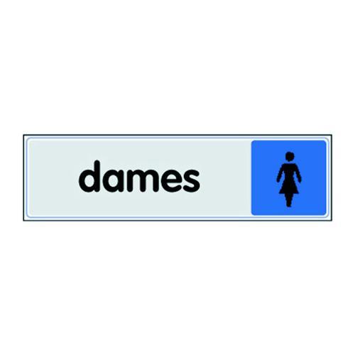 Panneau de signalisation en plexiglas - Toilettes femmes