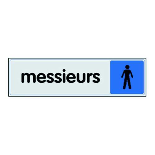 Panneau de signalisation en plexiglas - Toilettes hommes