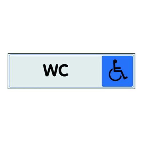 Panneau de signalisation en plexiglas - WC handicapé