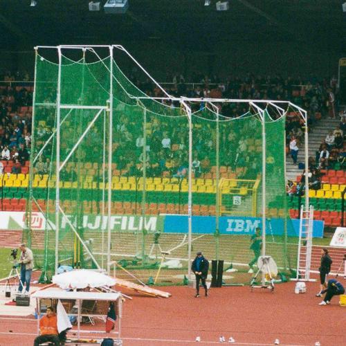 Filet de protection de cage de lancer de marteaux hauteur 5,50 m