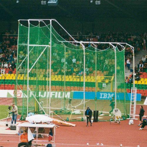 Filet de protection de cage de lancer de marteaux hauteur 7 m