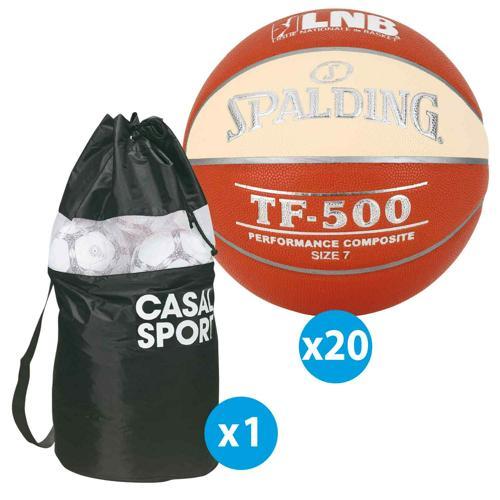 Lot 10 ballons basket Spalding - TF500 LNB taille 7