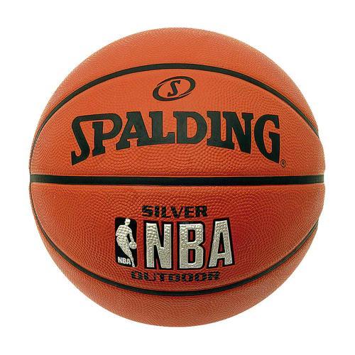 Ballon de Basket Spalding NBA Silver Outdoor T.6