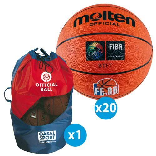 Lot 20 ballons basket - Molten - official FFBB