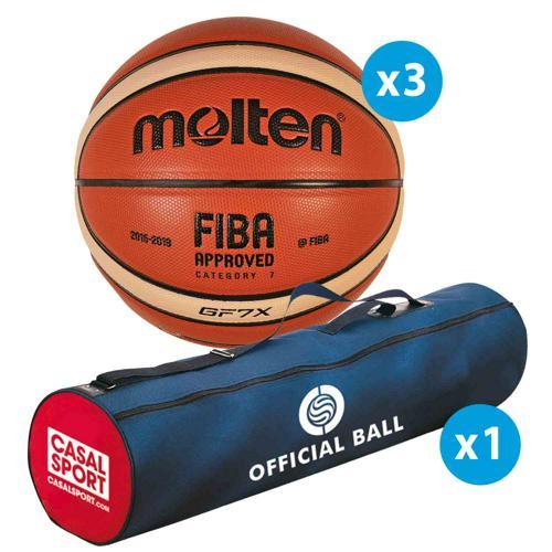 Lot 3 ballons basket - Molten - GFX FFBB FIBA