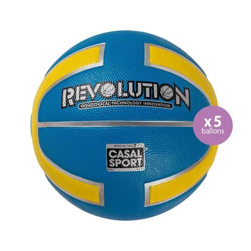 Pack de 5 ballons Revolution Casal Sport T.7