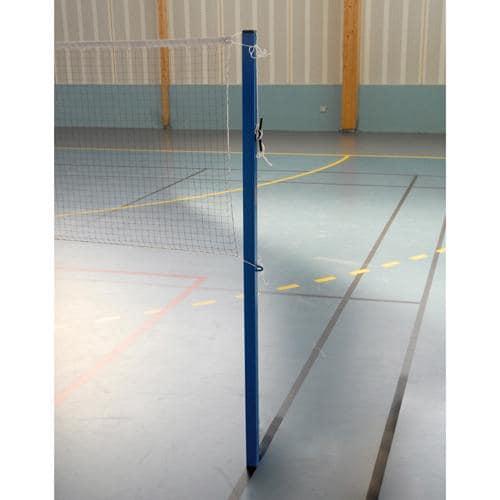 Poteau de badminton 40 sur 40 en acier pour l'entrainement à sceller central / l'unité