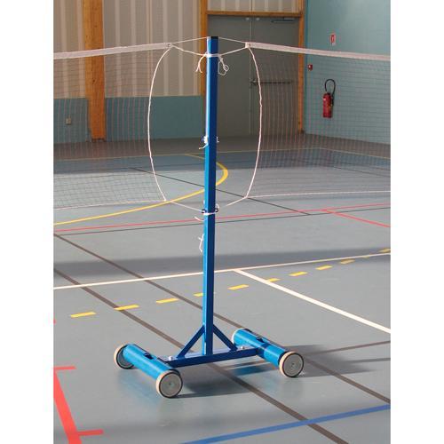 Poteau de badminton central scolaire lesté à 45kg / L'unité
