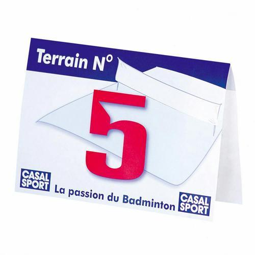 NUMEROTATION TERRAINS DE BADMINTON