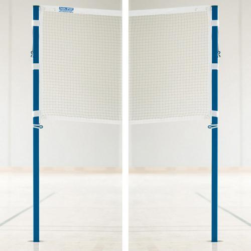 Ensemble poteaux et filet de badminton - compétition à sceller