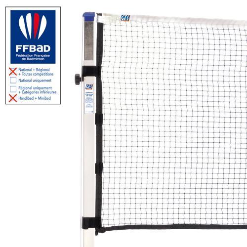 Filet de badminton homologué FFBAD - GES