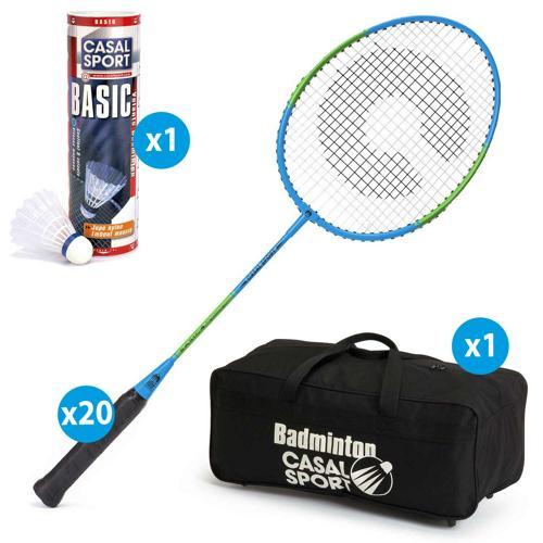 Lot de 20 raquettes Casal Sport basic 4 + sac de rangement