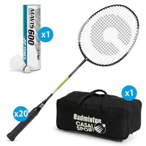 Lot de 20 raquettes Casal Sport Absolute 520 + sac de rangement