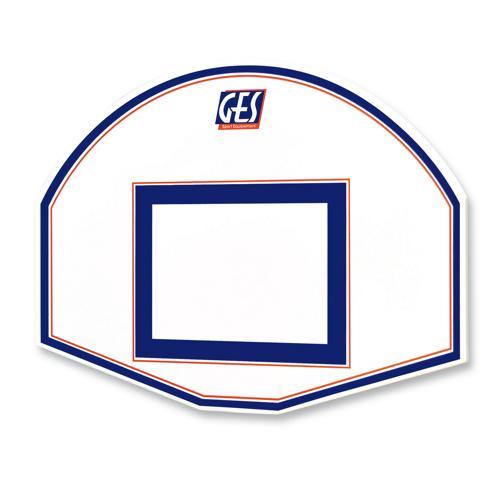 Panneau de basket GES demi lune 90 x 120 cm 2 couleurs