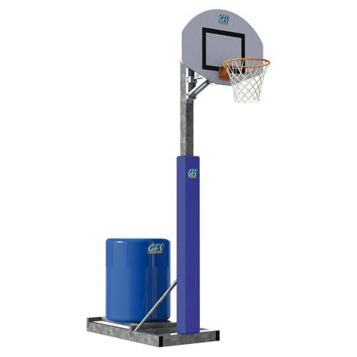 But de basket GES extérieur sur châssis transportable, lesté