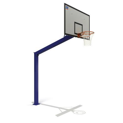 But de basketball extérieur Boston 3. 05m galvanisé et plastifié à sceller  peint.