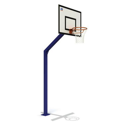 But de basket extérieur GES Atlanta 2.60m, galvanisé et plastifié peint, sur platine
