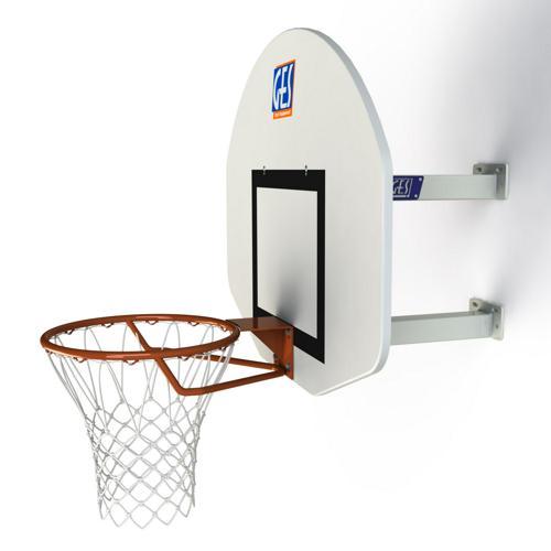 But de basket mural hauteur fixe 2 bras