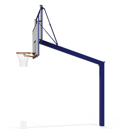 But de basket ball extérieur réglable en acier, galvanisé, à sceller non peint