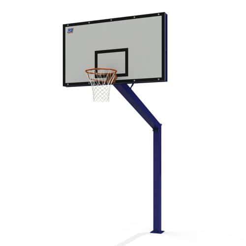 But de basket ball extérieur réglable en acier, galvanisé, sur platine non peint