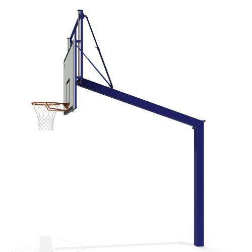 But de basket ball extérieur réglable en acier, galva et plastifié peint sur platine