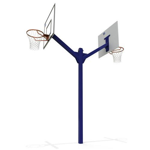 But de basket ball extérieur double têtes peint