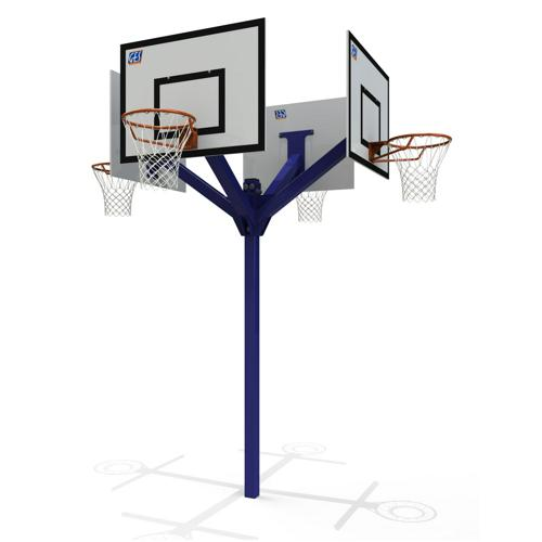 But de basket ball extérieur 4 têtes peint
