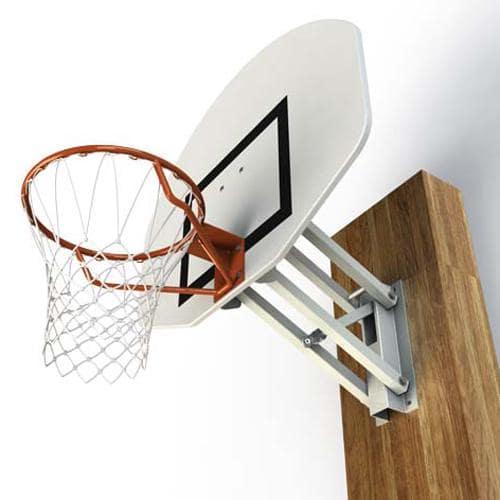 But de basket mural réglable à hauteur réglable de 2, 60m à 3, 05m par système vis sans fin, panneau rectangulaire / l'u