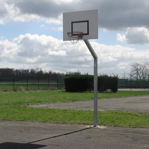 But de basket de rue, galvanisé à chaud, de hauteur 3, 05m, scellement sur platine