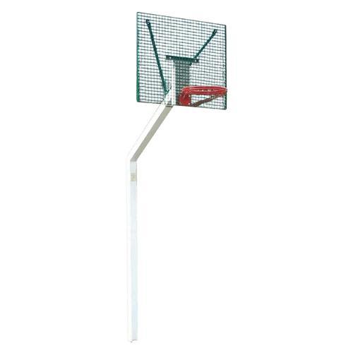 But de basket de rue galvanisé et plastifié à hauteur de 3, 05m, scellement sur platine