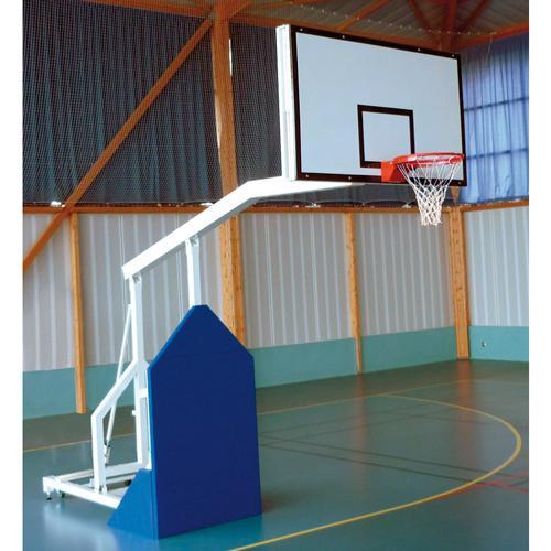 But de basket de compétition mobile, deport de 2, 25m à tête fixe avec panneau 1800x1050,