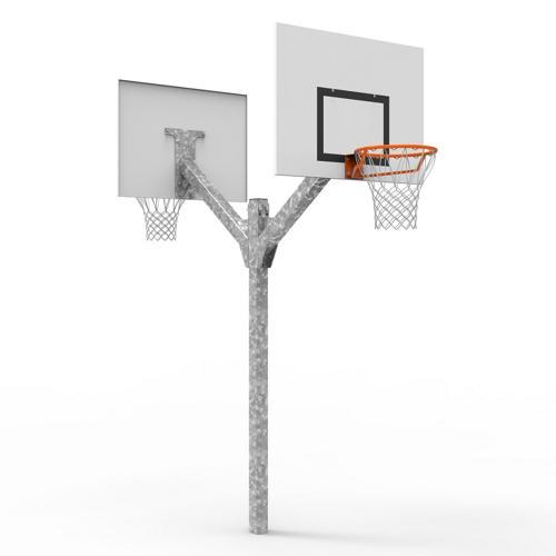 But de basket double têtes, galvanisé à chaud à hauteur de 3, 05m, à sceller / l'unité