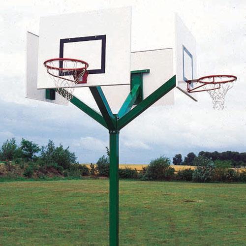 Tour de basket 4 têtes galvanisé à chaud à hauteur de 3, 05m, sur platine / l'unité