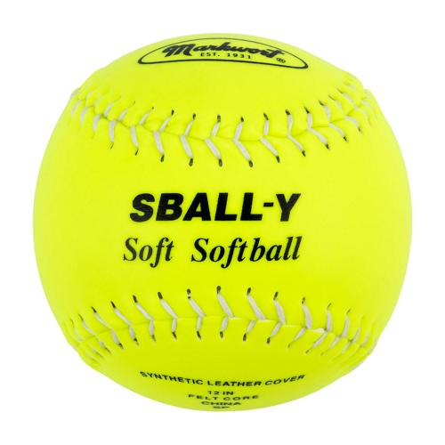 Balle de Softball 12'' Soft Flex jaune fluo
