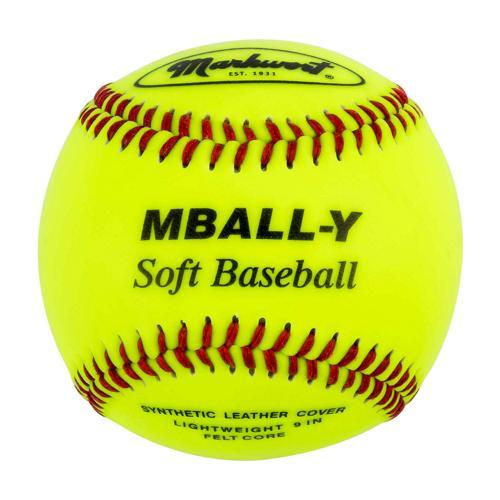 Balle de baseball 9 Soft Flex fluo