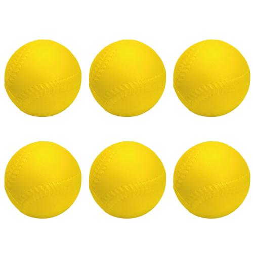 BALLES DE BASEBALL 9'' MOUSSE - LOT DE 6