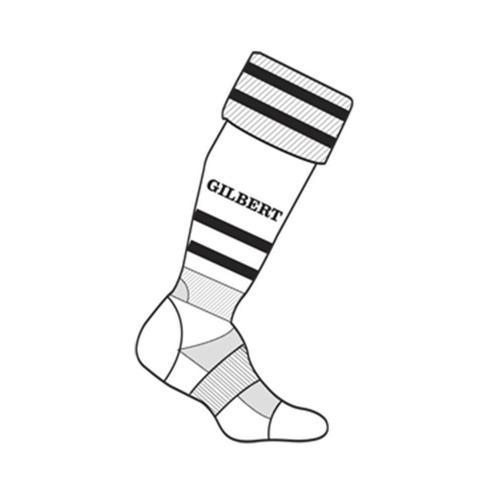 Chaussettes training Gilbert blanc / noir