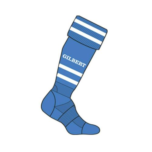 Chaussettes training Gilbert royal / blanc