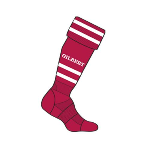Chaussettes training Gilbert rouge / blanc